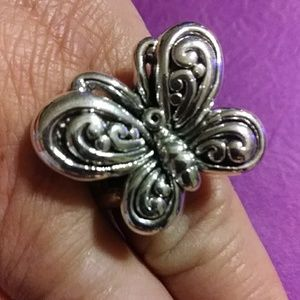 NWT,5.79 Grams. sterling  butterfly ring sz 8